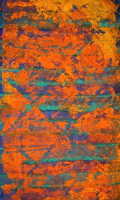 Obra de Mar Ortega en la exposición Colectiva Grandes Artistas, organizada por Espacio 40 en Caixa Rural de Onda. Imagen cortesía de Espacio 40.