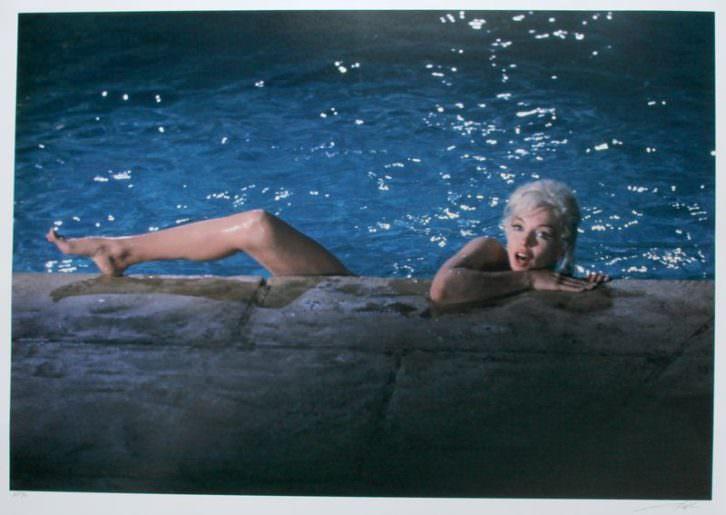 Imagen de Marilyn Monroe en la exposición de Kir Royal. Foto: Lawrence Schiller.