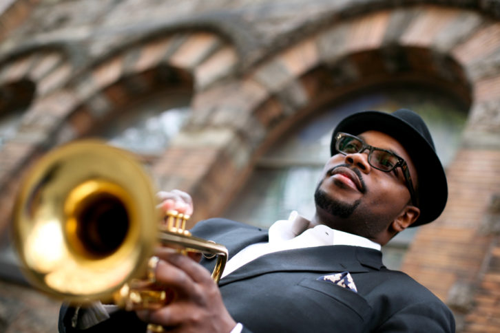 El trompetista Jeremy Pelt. Fotografía de Gulnara Khamatova extraída de la web del artista.