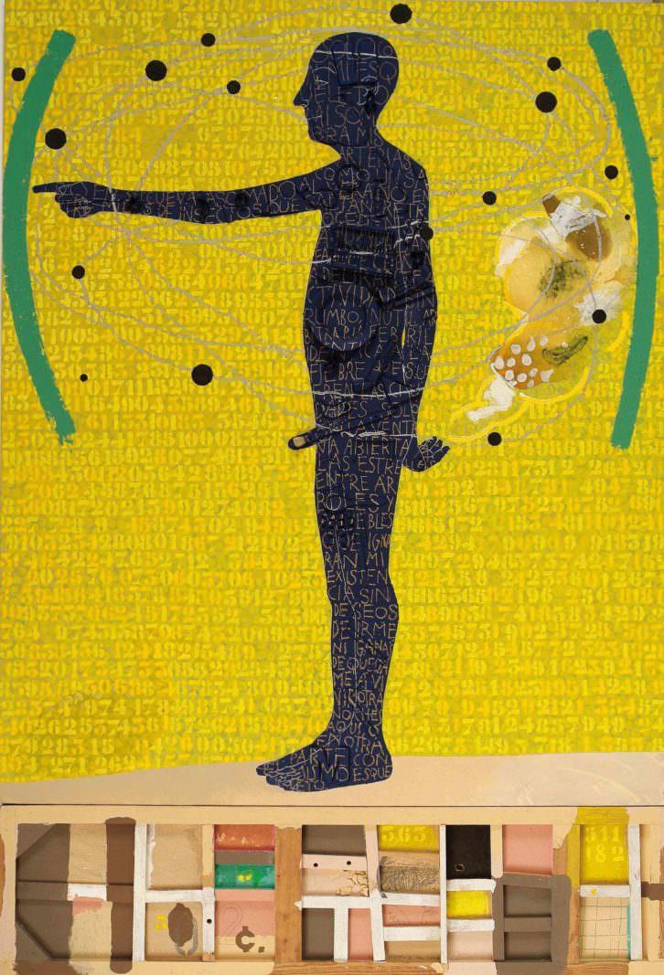 Ramsés II o és Franco? de Artur Heras, en la Fundación Chirivella Soriano. Imagen cortesía del autor.