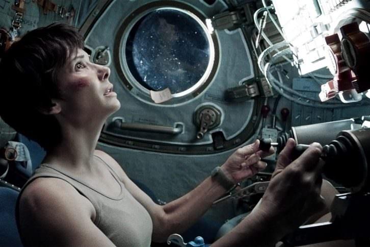 Sandra Bullock en un fotograma de Gravity, película de Alfonso Cuarón.