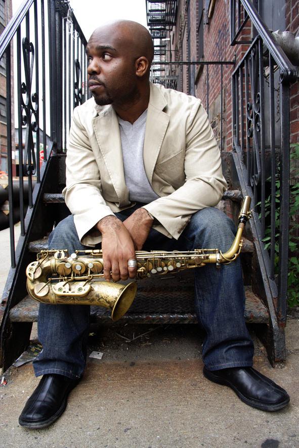 Imagen del saxofonista Jaleel Shaw, que actuará con el cuarteto de Bryn Roberts en Jimmy Glass. Imagen cortesía de Jimmy Glass.