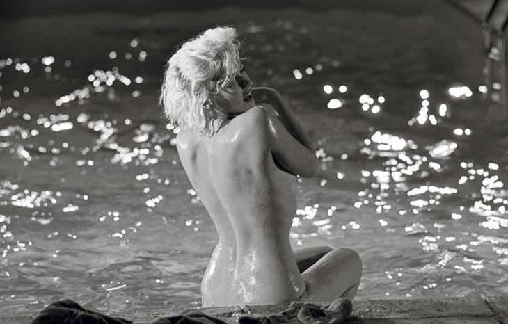 Imagen de Marilyn Monroe expuesta en Kir Royal y valorada en 6.000€, de la que ya no quedan copias. Foto: Lawrence Schiller.