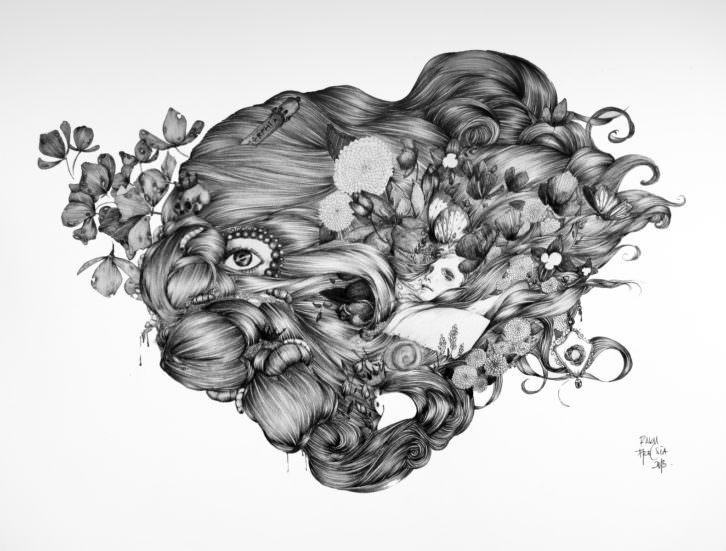 Raku, de Raquel Carrero, en Trentatres Gallery. Imagen cortesía de Trentatres Gallery.