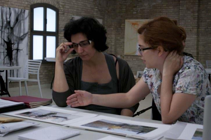 Nuria Enguita y Verónica Francés. Fotografía de Lola Calzada