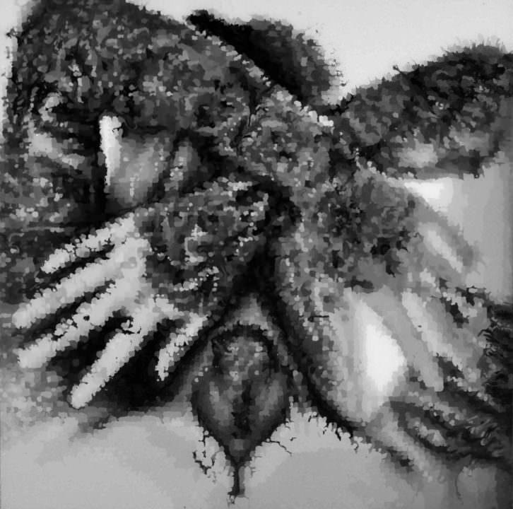 Obra de Fabio Camarotta para 'Tattoo You' en la galería Alba Cabrera. Imagen cortesía de Alba Cabrera.