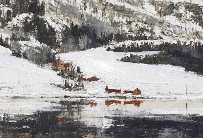 Obra de Calo Carratalá en la exposición Noruega 2011. Centro del Carmen.