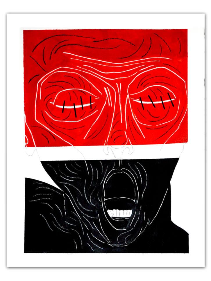 Obra de Claudio Zirotti para la exposición 'Teatro, danza, ciudad' en Espacio 40. Imagen cortesía de la galería Espacio 40.