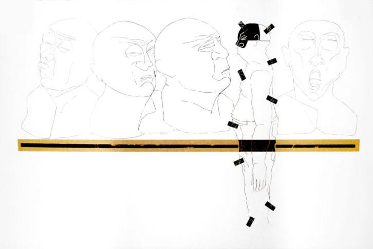 Obra de Claudio Zirotti para 'Teatro, danza, ciudad' en Espacio 40. Imagen cortesía de Espacio 40