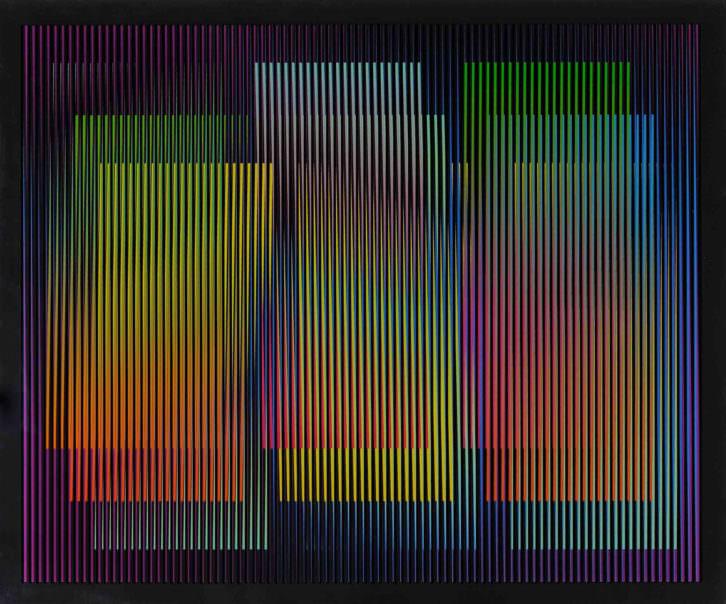 Una de las obras expuesta en 'Op & Cinetic Art Then and Now', de la galería Punto. Imagen cortesía de Punto.