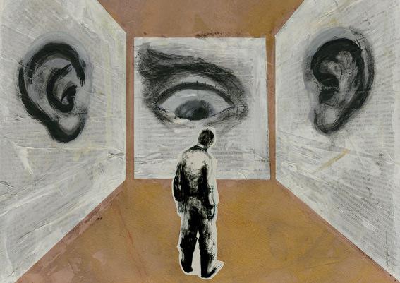 1984, de George Orwell, por Illot, en la exposición 'Aventura de paper' de la Facultat de Magisteri de la Universitat de València.