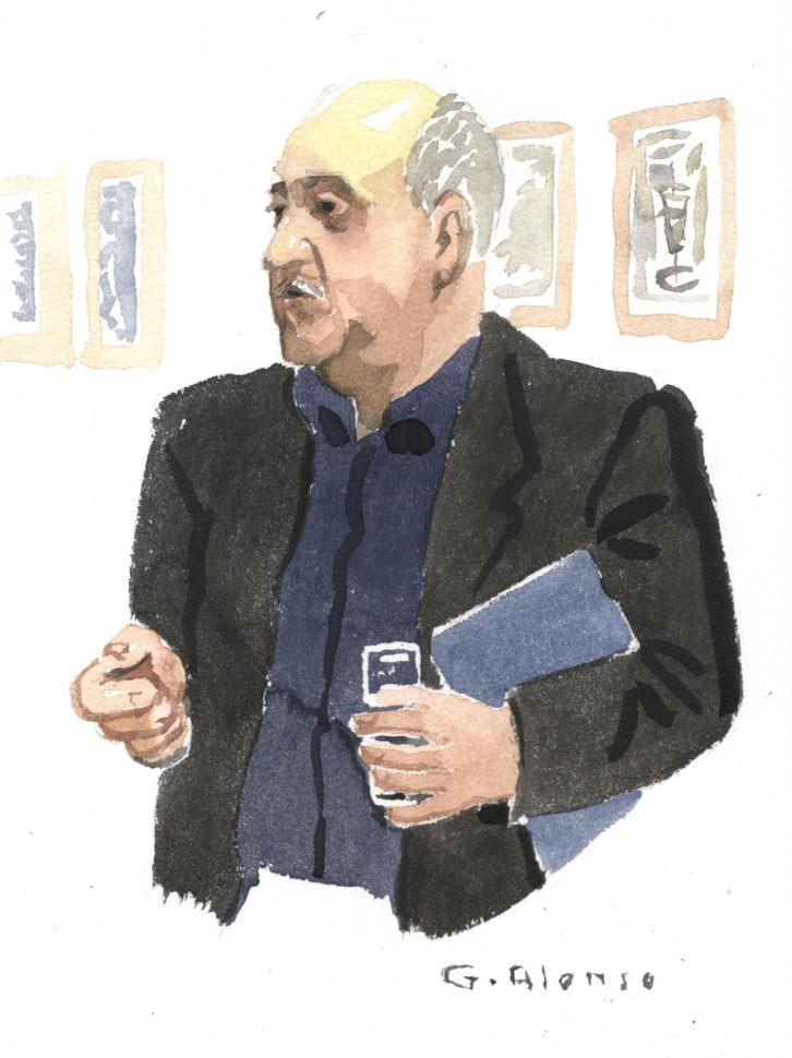 Retrato de Jaime Giménez de Haro para 'Retratos furtivos en el Malva', de Gabriel Alonso. Imagen cortesía de Café Malvarrosa.