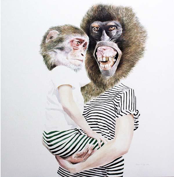 """""""Metamorfosis"""". 100 x 100cm. Pablo Fernandez Pujol. Imagen cortesía de la Kir Royal Gallery"""