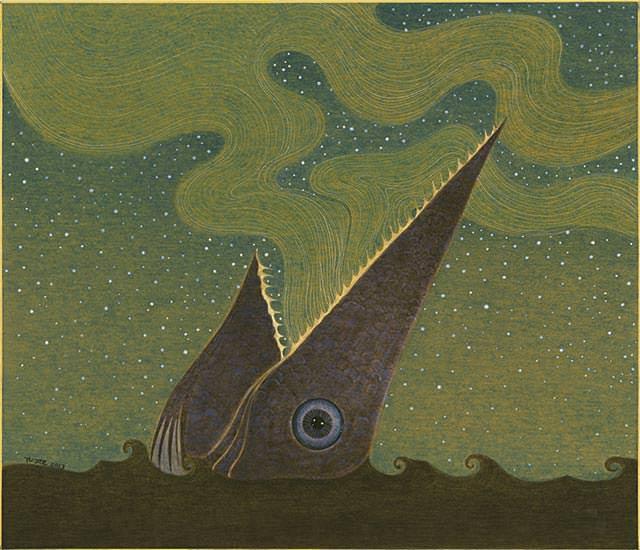 """Mysterious Land"". 45,5 x 53cm. Yu Jie. Imagen cortesía de la Kir Royal Gallery"