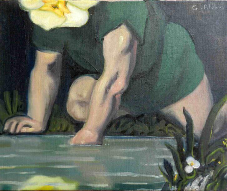 Narciso, obra de Gabriel Alonso para 'Metamorfosis XXI'. Imagen cortesía del autor.