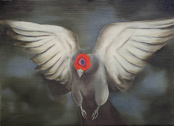 """""""Piccione"""". 24x28cm Fabio La Fauci. Imagen cortesía de la Kir Royal Gallery"""