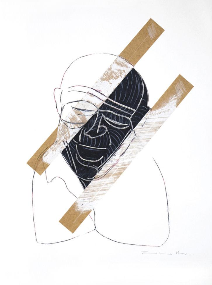 Obra de Claudio Zirotti para 'Teatro, danza, ciudad' en Espacio 40. Imagen cortesía de Espacio 40.