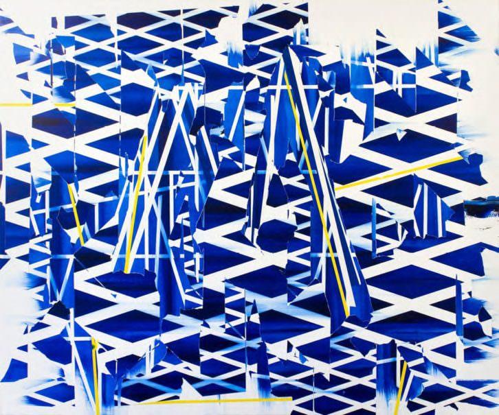 Untitled_011, 2013 óleo y esmalte sobre lienzo 100x120 cm
