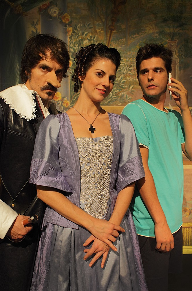 Actores de la obra. Fotografía por cortesía de María García.