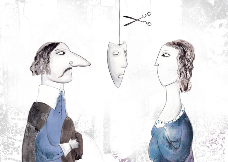 Cyrano de Bergerac, de Edmond Rostand, por Mar Ballesteros en la exposición 'Aventura de paper' de la Facultat de Magisteri.