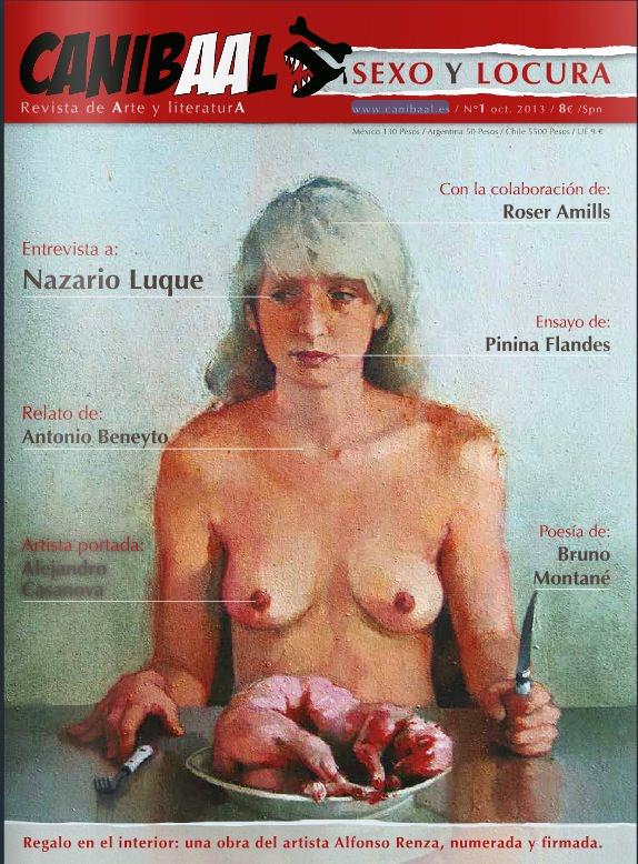 Portada del primer número de la revista Canibaal.