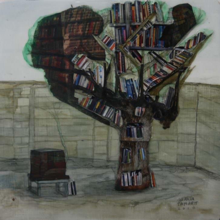 Obra de Álvaro Tamarit, en 'Árbol objeto'. Imagen cortesía de Alba Cabrera.