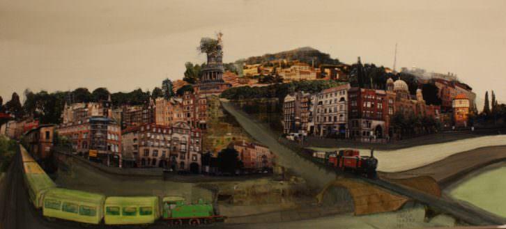 Ciudad con cubierta vegetal, de Álvaro Tamarit. Imagen cortesía de Alba Cabrera.