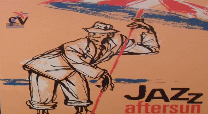 Detalle de uno de los carteles de la exposición 'Con acento. Memoria gráfica del jazz en España'.