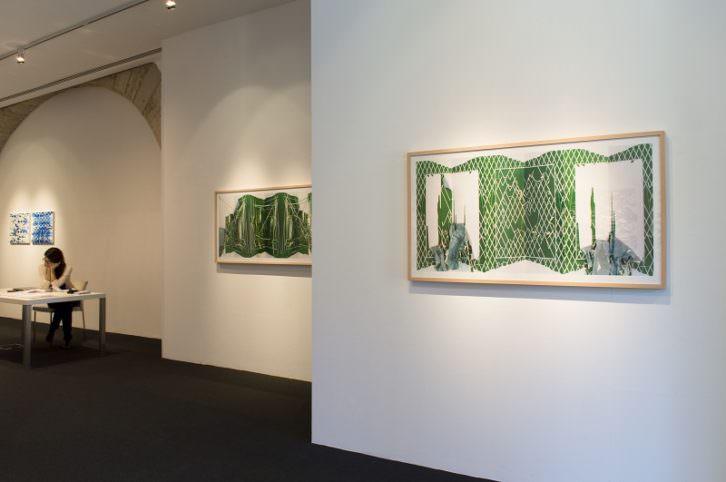 Vista de la exposición de Fernando M Romero en la galería PazYComedias