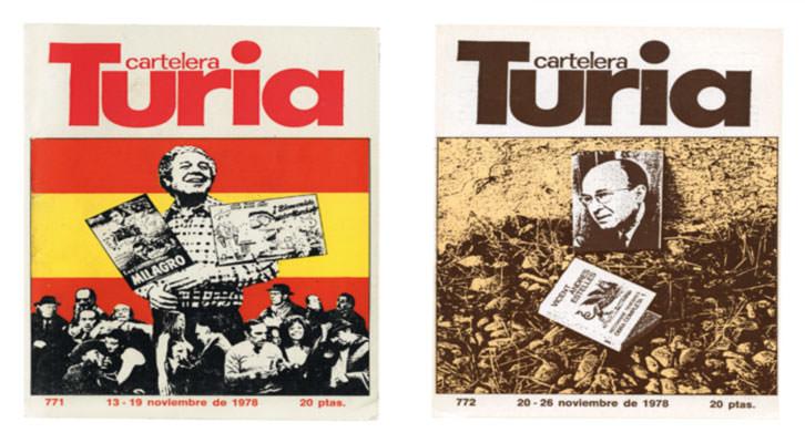 Ilustraciones de Miguel Calatatyud para la Cartelera Turia. Imagen cortesía de Media Vaca.