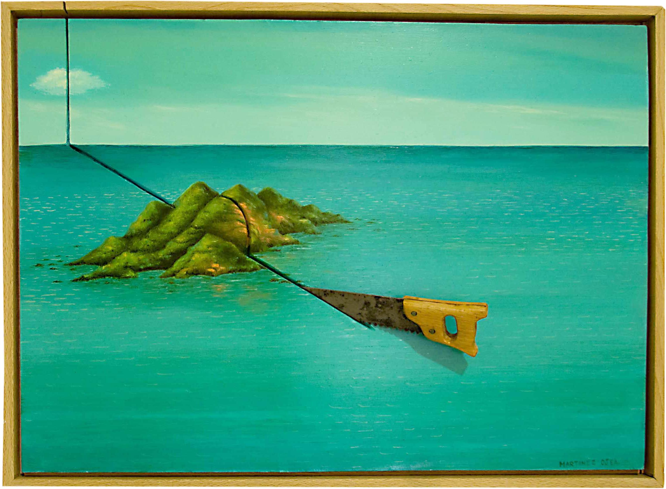 """""""Cielo, mar y tierra"""", obra de Manuel Martinez Ojea. Imagen por cortesía de la Galería."""