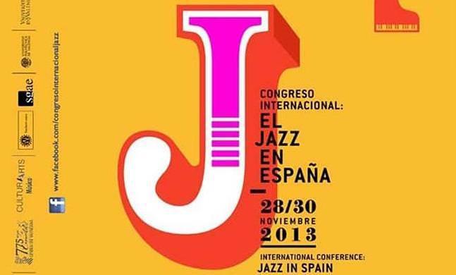 Detalle del cartel del Congreso Internacional: El Jazz en Valencia.