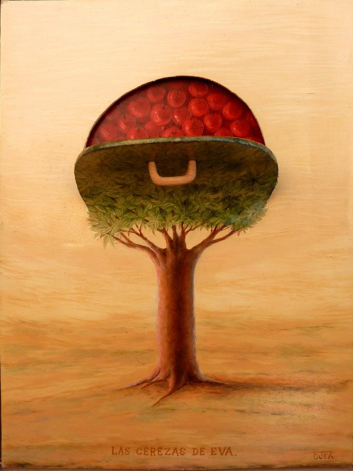 """""""Las cerezas de Eva"""", obra de Manuel Martinez Ojea. Imagen por cortesía de la Galería."""