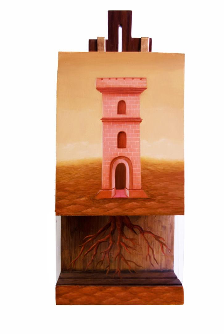 """""""Raíz de la Torre"""", obra de Manuel Martinez Ojea. Imagen por cortesía de la Galería."""