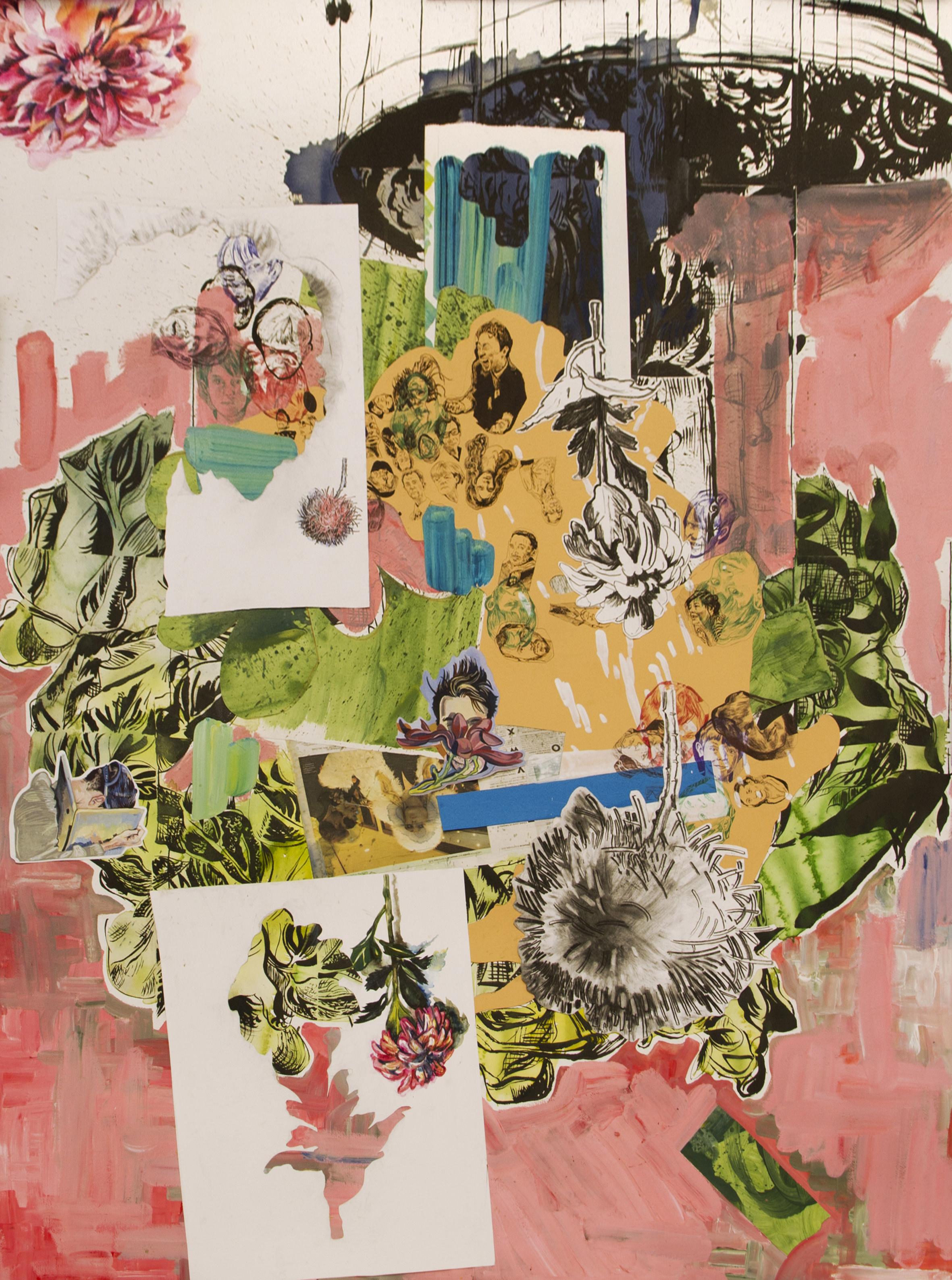 To Sarah (retrato). Collage. 200x150cm, 2013. Obra de Florentine & Alexandre Lamarche-Ovize. Imagen por cortesía de la galería.