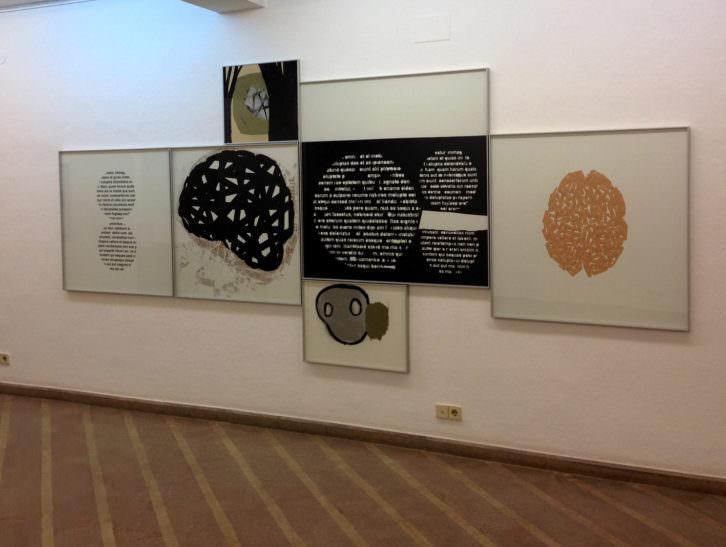 Vista de la exposición. Obra de Manel Margalef. Imagen por cortesía de la galería.