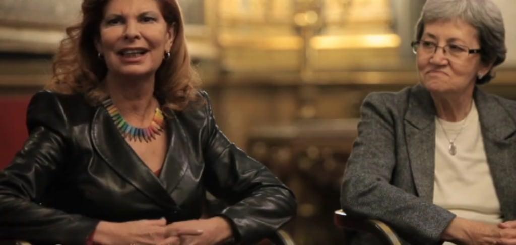 Carmen Alborch y Carlota Bustelo. Imagen de 'Las constituyentes'.