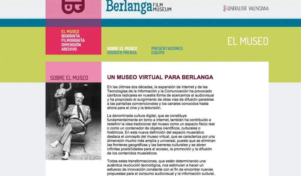 Detalle del Berlanga Film Museum. Imagen extraída del museo virtual.