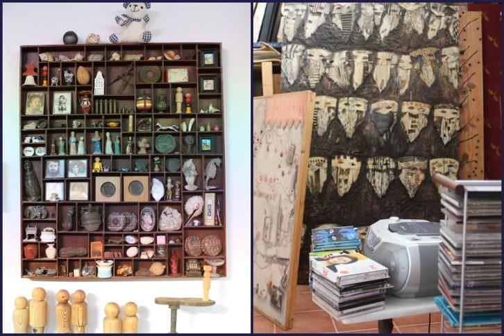 Obras de Carmen Grau en su taller