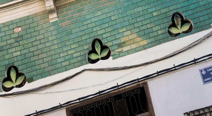 Detalle de la fachada de una casa del Cabanyal. Fotografía: Germán Caballero.