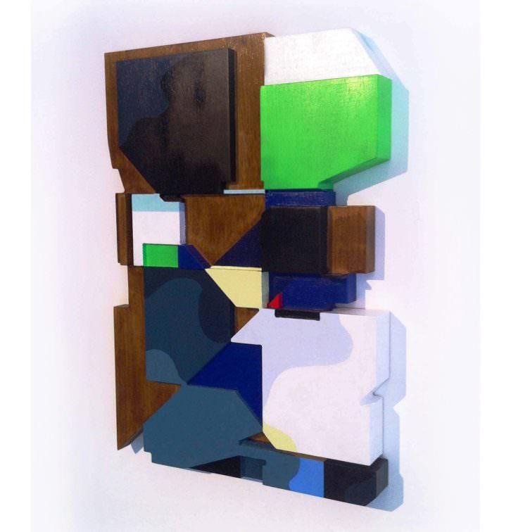 Escultura, obra de Demsky. Imagen por cortesía de la galería.