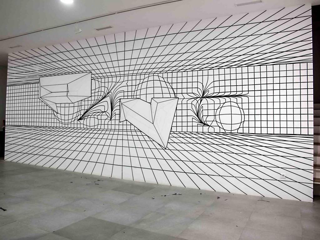 Obra de Felipe Pantone para la exposición 'Ultra Dinámica'. Imagen cortesía de Mr. Pink