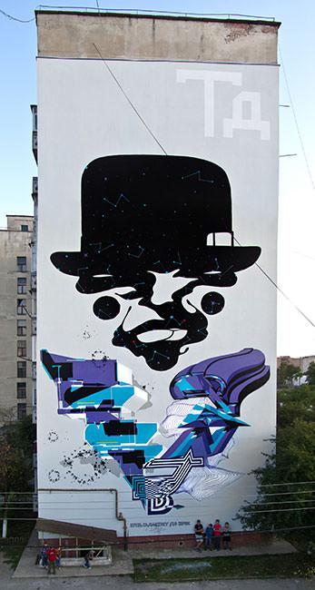Obra de Pantone y Demsky en Ucrania. Imagen cortesía de Mr. Pink.