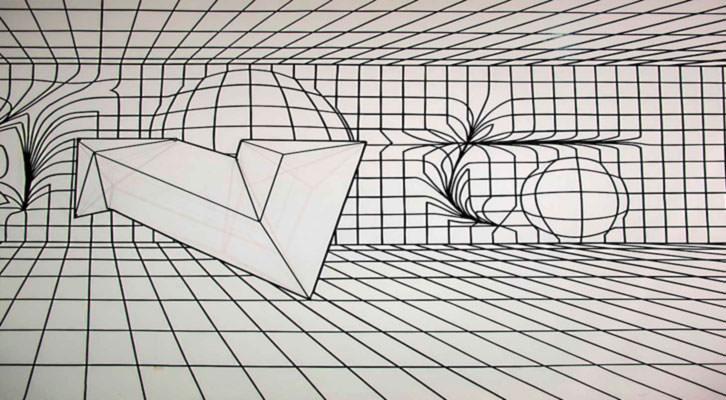 Detalle de la obra de Felipe Pantone para 'Ultra Dinámica'. Imagen cortesía de la galería Mr. Pink.