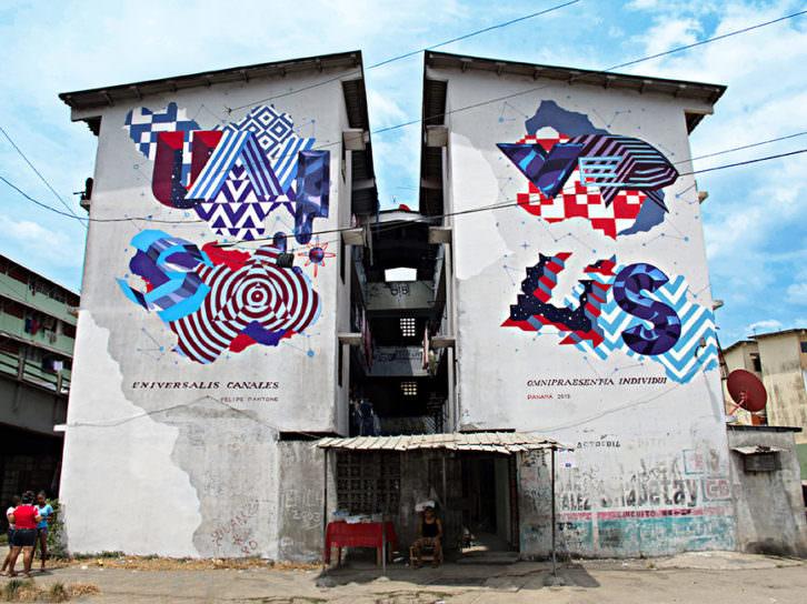 Graffiti de Pantone en Panamá. Imagen por cortesía de la Galería.