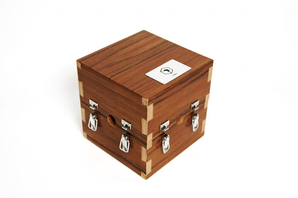 Caja de madera de Cubess. Rubén López.