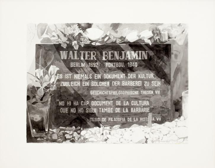 Epitafio sobre la tumba de Walter Benjamin
