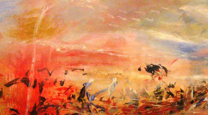 Detalle de una de las obras de Mikel Díez Alaba, en 'Transitando un tiempo'. Museo de Bellas Artes de Bilbao.