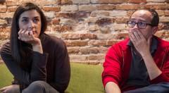 Adriana Navarro y Álex Montoya, en un momento de los Desayunos Makma en Lotelito. Fotografía: Miguel Lorenzo