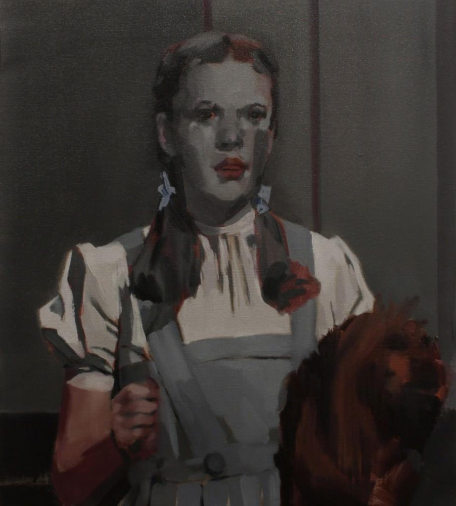 Nacho Martín Silva, Dorothy from west, 2014, (óleo sobre lienzo, 46 x 41 cm). Imagen cortesía de la Galería Nuble.